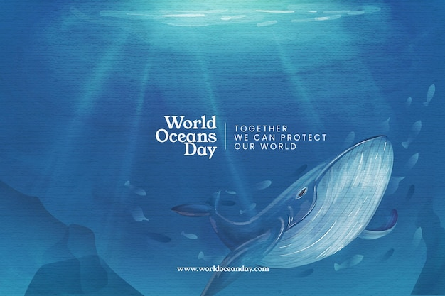 World oceans day background