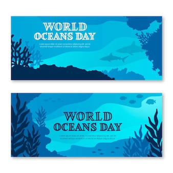 Всемирный день океана концепция баннера