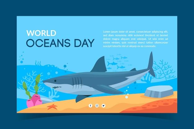 Tema della bandiera della giornata mondiale degli oceani