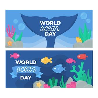 World oceans day banner