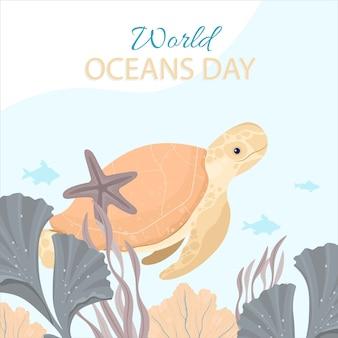 世界海の日カードイラスト