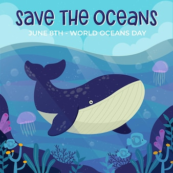 World oceans day draw