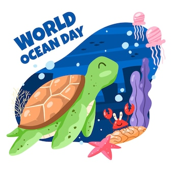 World oceans day drawing