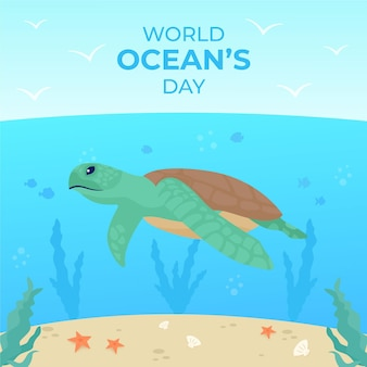 World oceans day event design