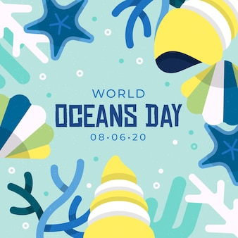 Illustrazione di evento di giornata mondiale degli oceani