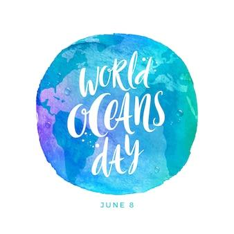 World oceans day illustration