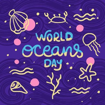 World oceans day illustration