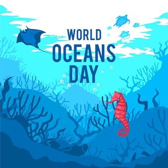 평면 디자인의 세계 해양의 날