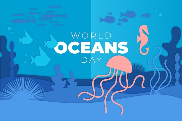 종이 스타일의 세계 해양의 날