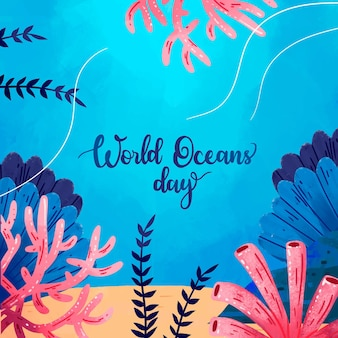 World oceans day theme