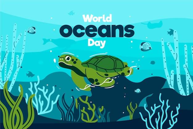 World oceans day theme
