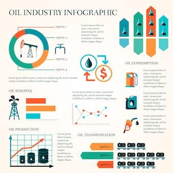 Мировое распределение добычи нефти и скорость добычи нефти инфографика диаграмма макет доклад представление дизайн дизайн векторная иллюстрация