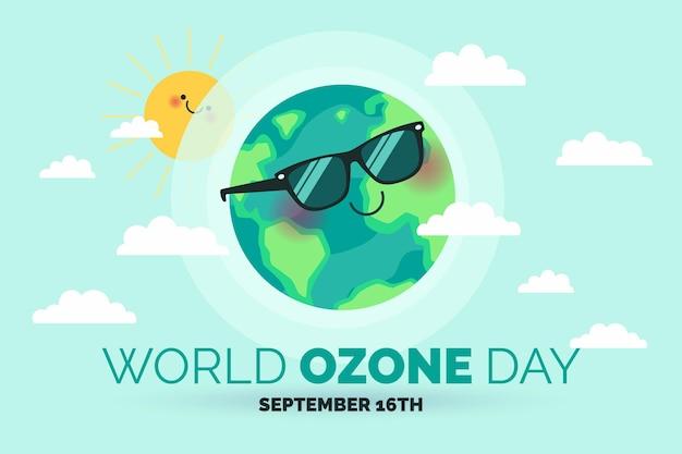 Sfondo della giornata mondiale dell'ozono