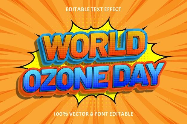 World ozoneday編集可能なテキスト効果