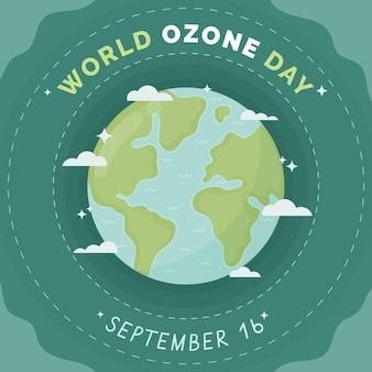 Illustrazione della giornata mondiale dell'ozono