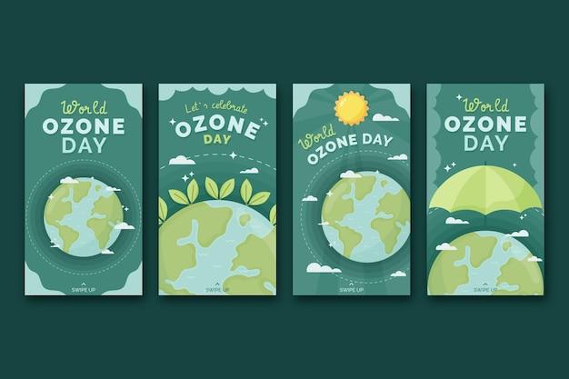 Raccolta di storie su instagram per la giornata mondiale dell'ozono