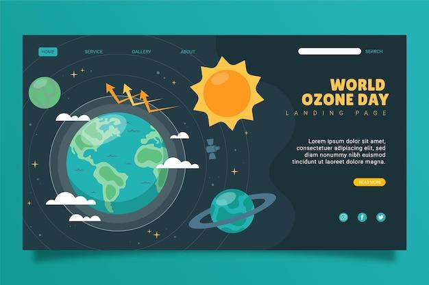 Modello di pagina di destinazione della giornata mondiale dell'ozono