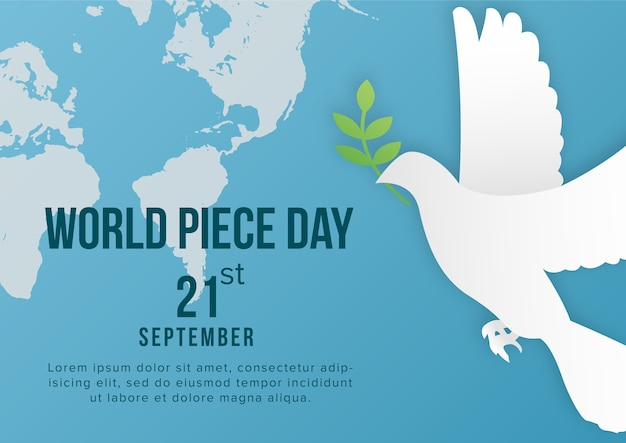 World peace day background template vector