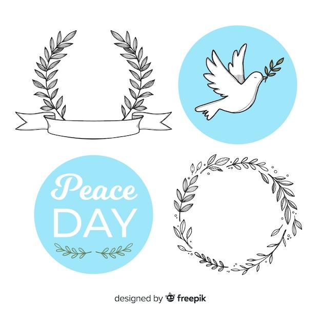 dove white symbol over fist Red
