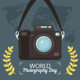 World photography day event illustration