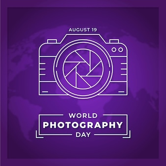 World photography day flat design