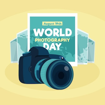 フラットデザインの世界写真デー