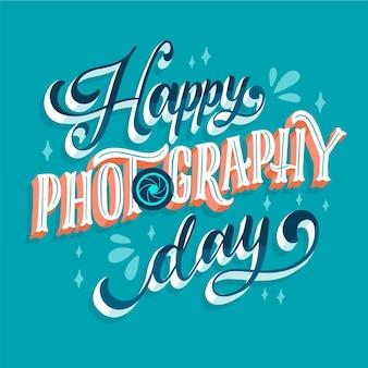 세계 사진의 날 레터링