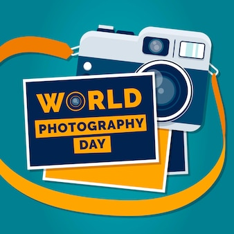 World photography day with camera