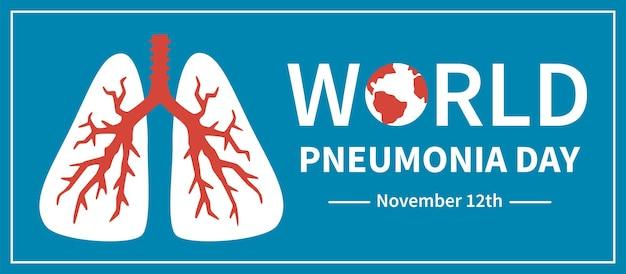 世界の肺炎の日。肺の病気、covid-19および結核の診断