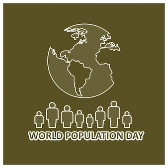 World population day background