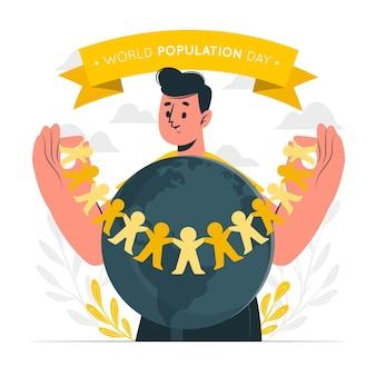Illustrazione di concetto di giornata mondiale della popolazione