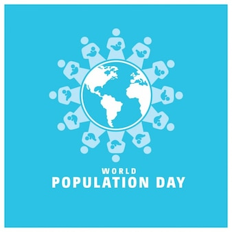 World population day globe