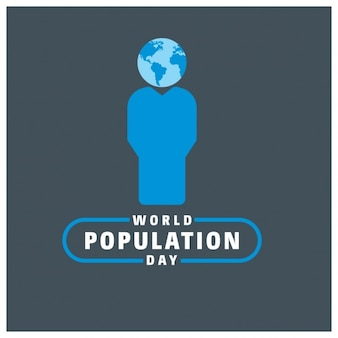 World population day typography with world globe