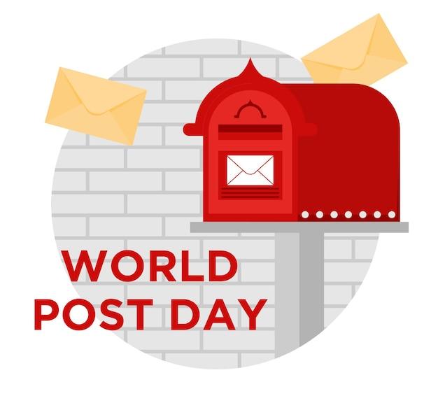World post day flat design