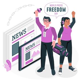 세계 언론 자유의 날 개념 그림