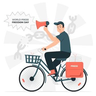 Illustrazione di concetto di giornata mondiale della libertà di stampa