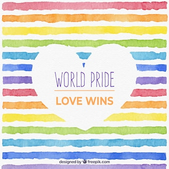 World pride background with watercolor lines