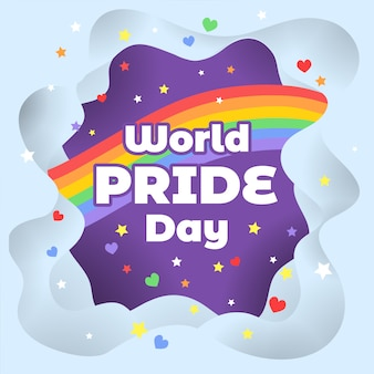 World pride day background