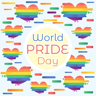 World pride day heart background