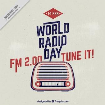 World radio day background