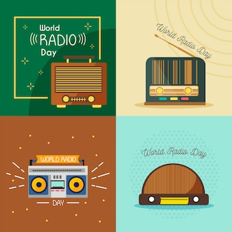 World radio day illustration