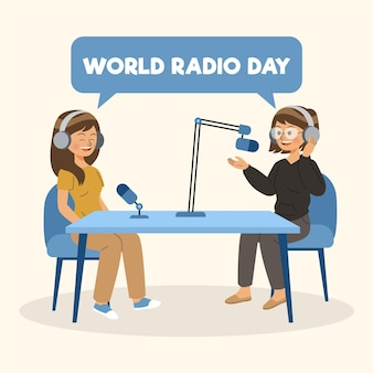 World radio day illustration