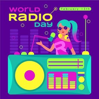 世界のラジオの日のイラスト