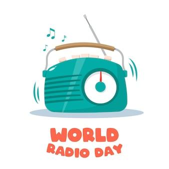 세계 라디오의 날 벡터 일러스트입니다.