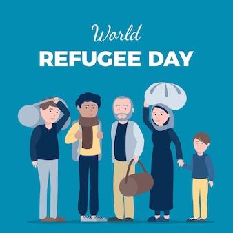 World refugee day concept