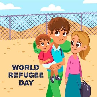 世界難民の日のコンセプト