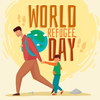 World refugee day design