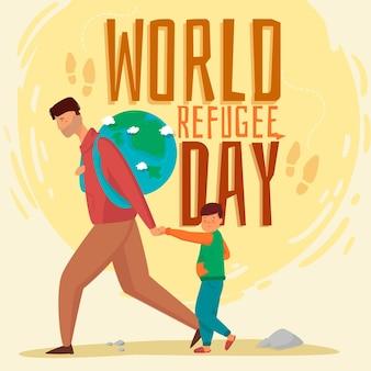 Design per la giornata mondiale del rifugiato