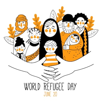 World refugee day drawing