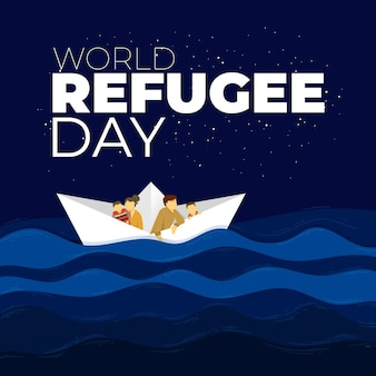World refugee day theme